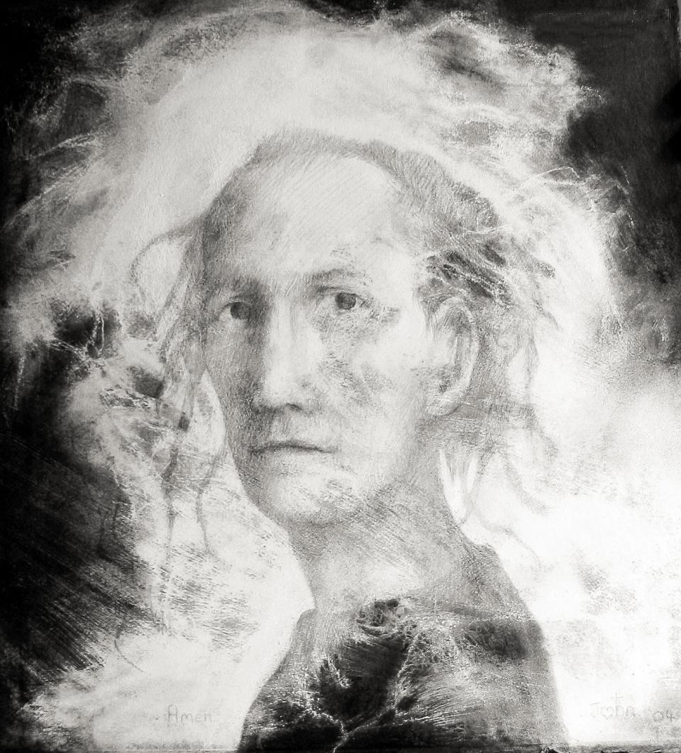 Self Portrait  2001 graphite on paper 77 x 57 cm  SOLD