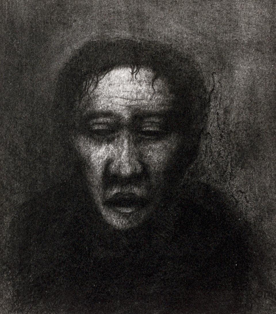 23 Melancholy  1997 pencile on paper 16 x 18 cm  SOLD