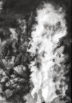 Matthew 27:50-54 (dead rising detail)  1995  pencil on paper -- x --  SOLD